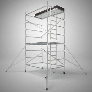 scaffold tower 3d obj