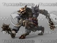 kobold fantasy monster 3d model