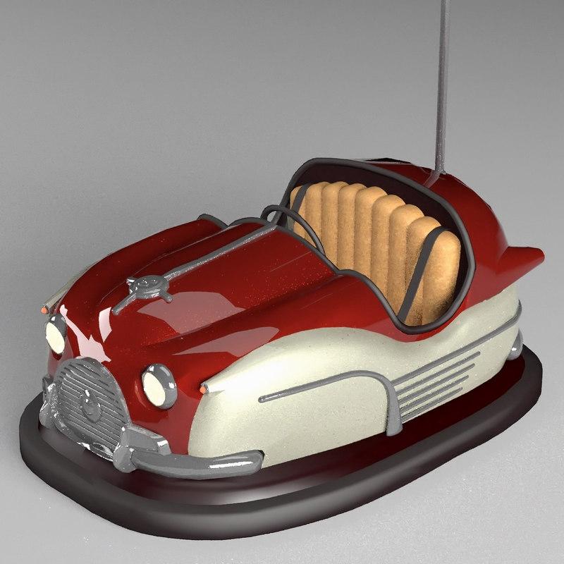 bumper car 3d obj
