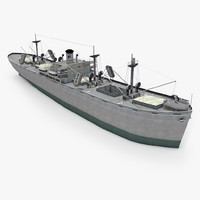 liberty ship 3d 3ds