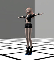 Anime Rigged Metal Girl