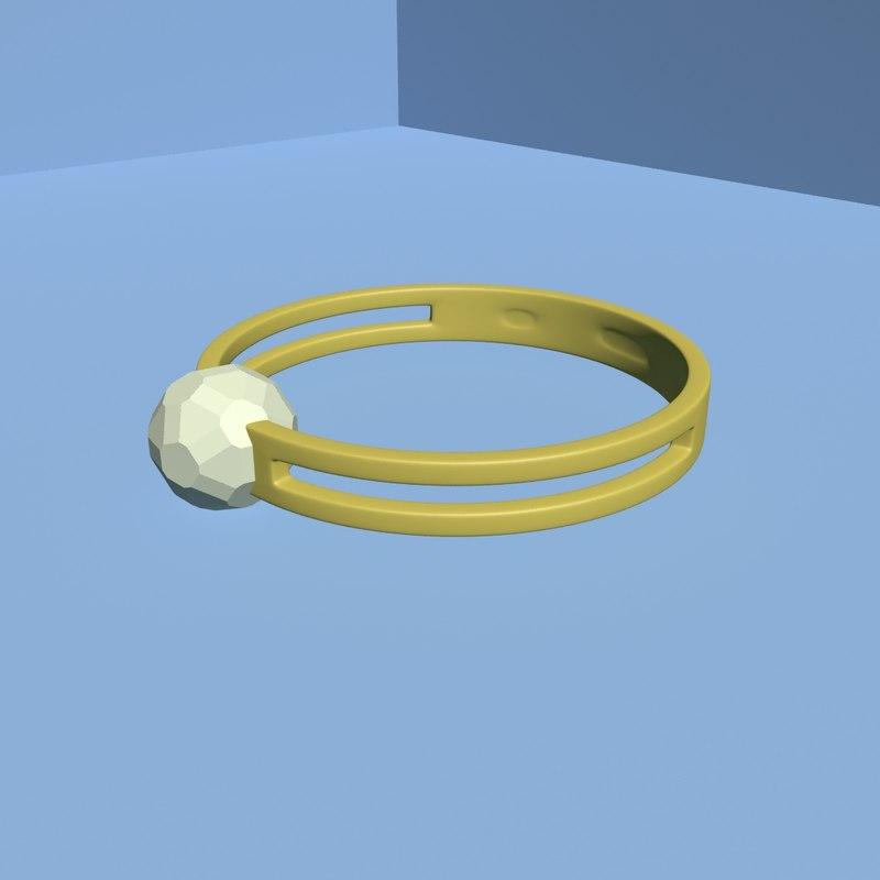 3d ring stone model