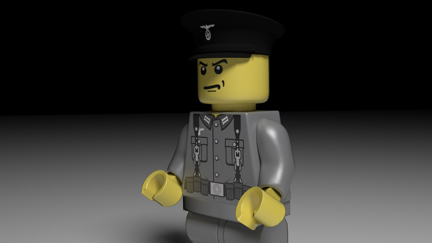 3d model lego character german soldier