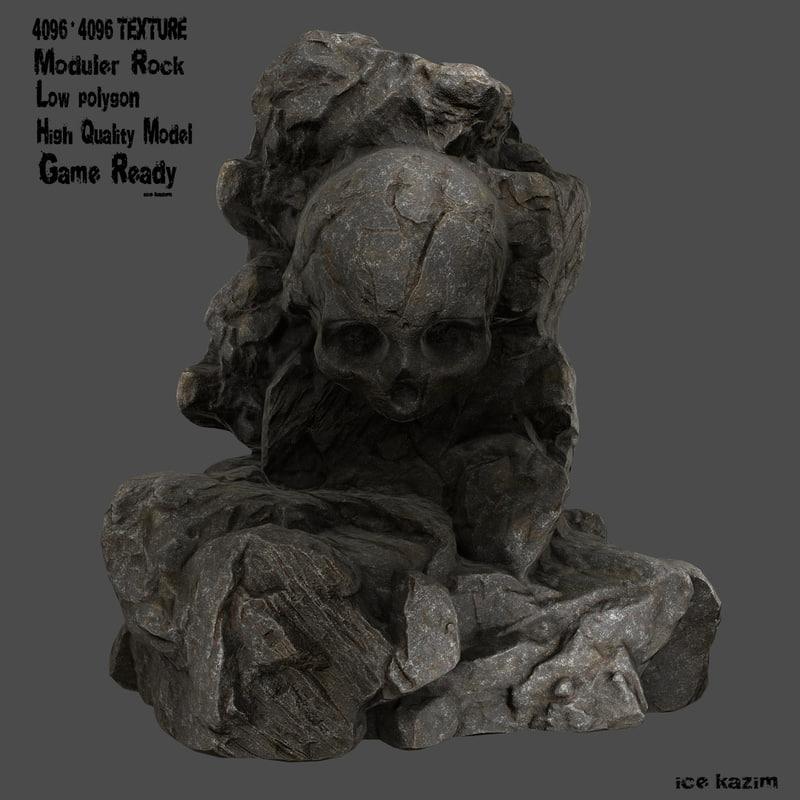 skull rock 3d model
