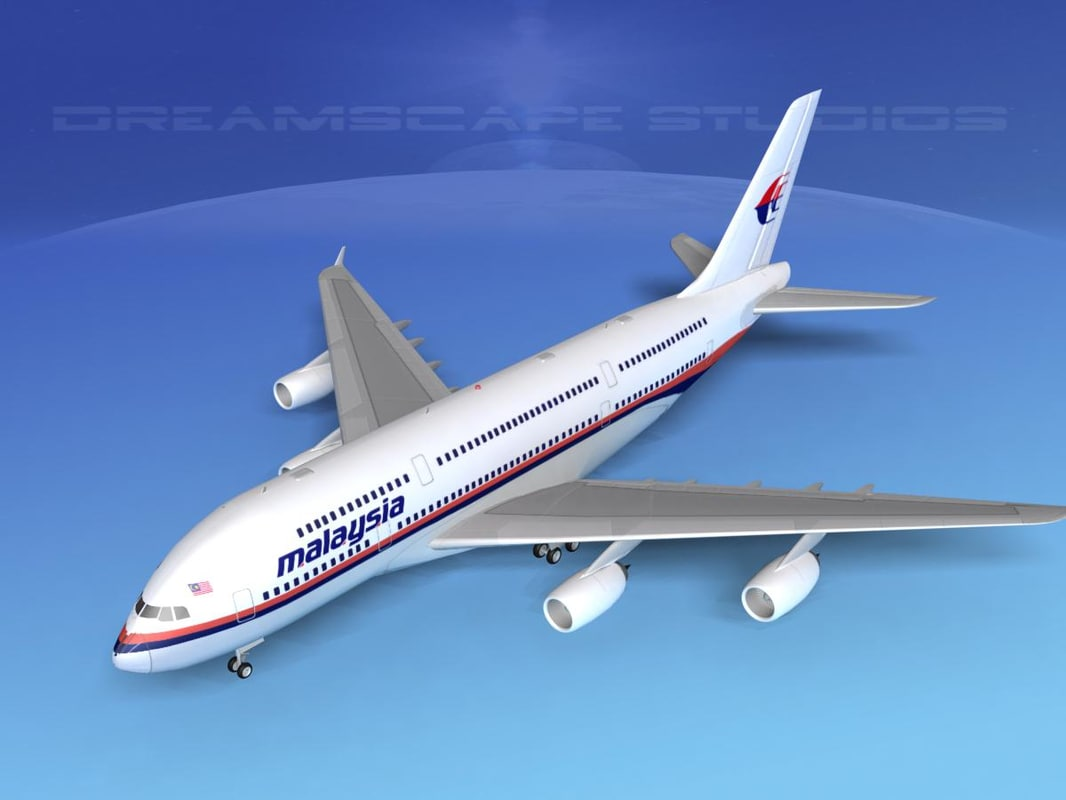 3d airbus a380 airliner