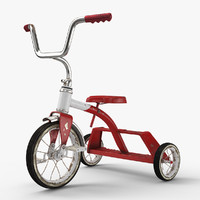 free tricycle dirty 3d model