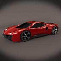 3d sports car concept