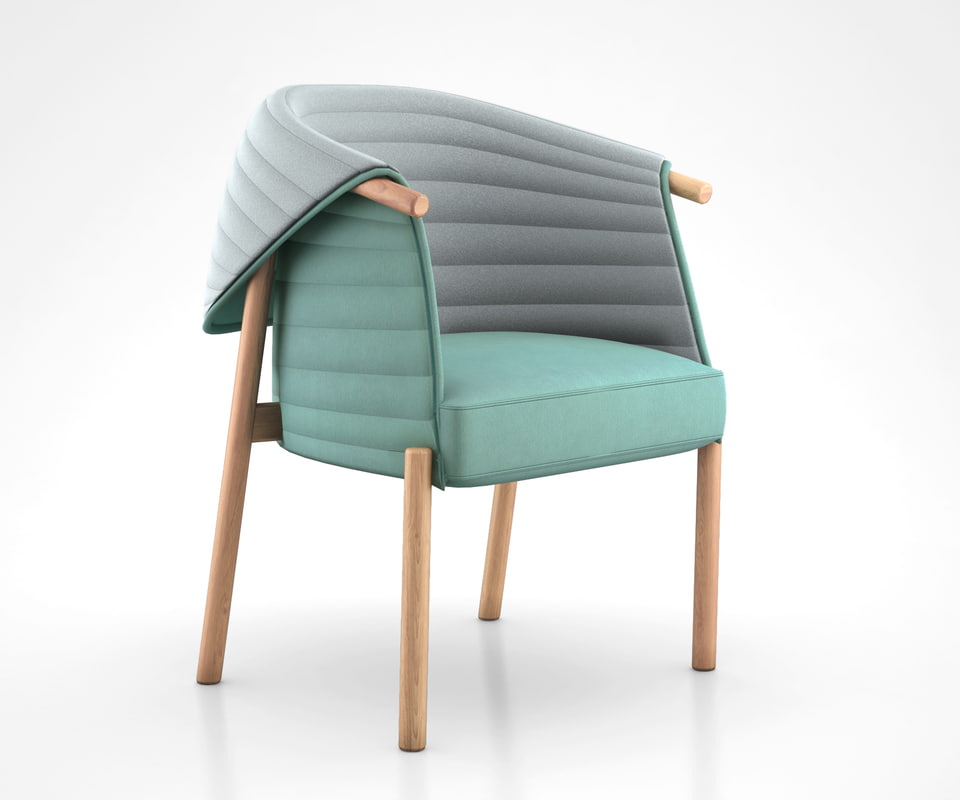 reves chair muka 3d model