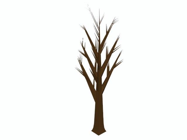 dead tree cartoon 3d model