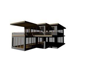 modern contemporary house 3d model