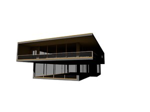 modern contemporary house 3ds