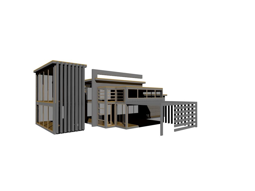 modern contemporary house 3d model