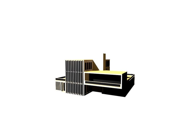 3d model of modern contemporary house