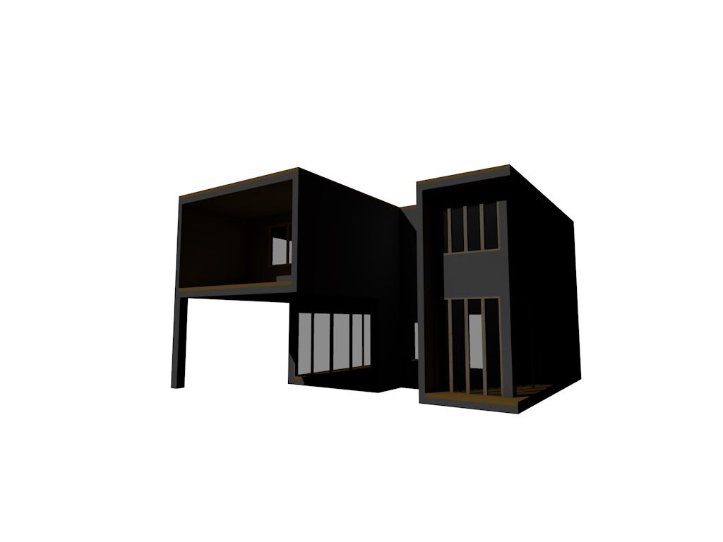 modern contemporary house 3d max