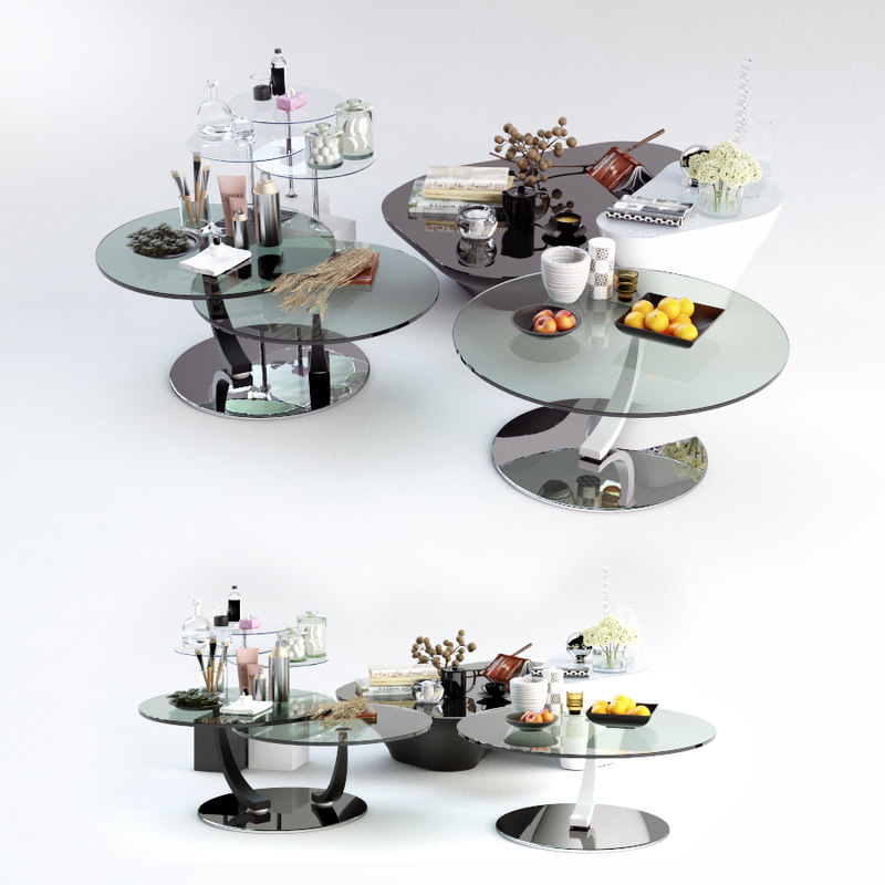 3d model set coffee tables attelan
