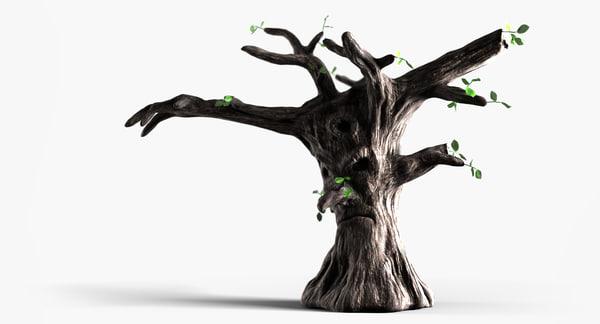 3d model fairy tail tree