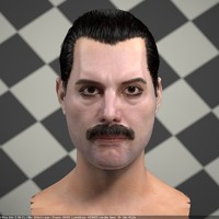 3d model of Freddie Mercury singer head