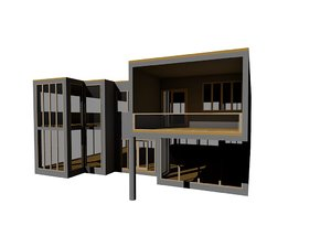 3d model modern contemporary house