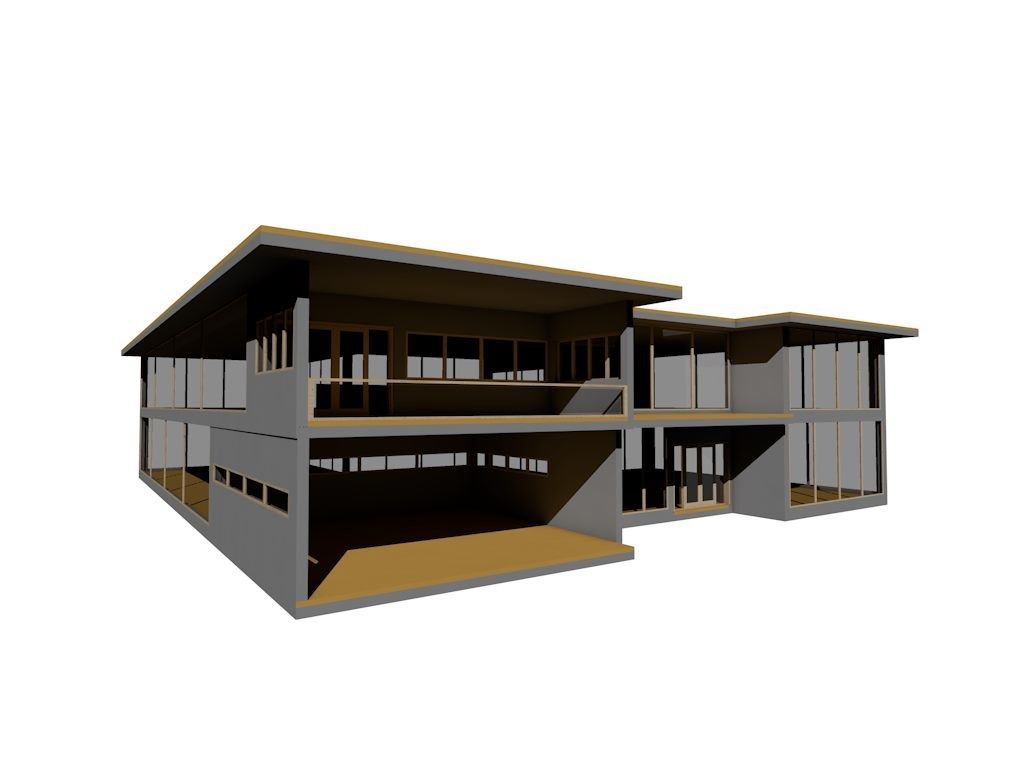 3d model modern contemporary house