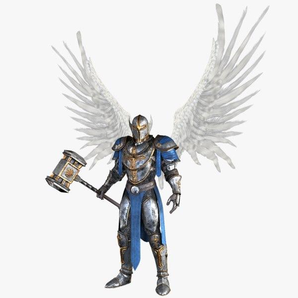 angel knight 3d obj