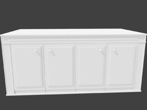 3d model kitchen island