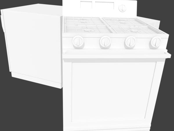 3d kitchen appliance model