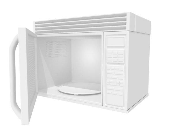 3d model microwave home