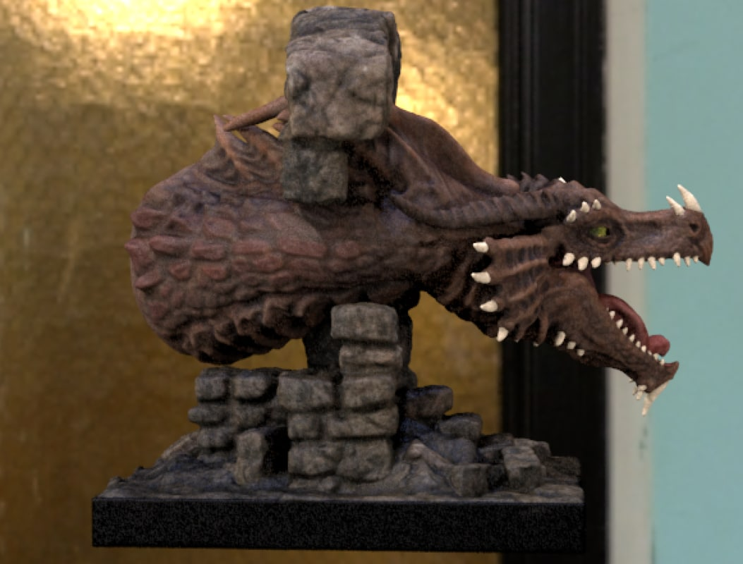 dragon printing 3d obj