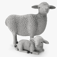 3d figurines sheep lamb