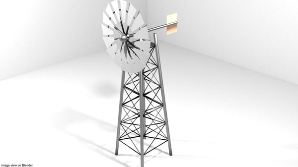 wind windmill 3d model