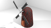 3d model wind windmill