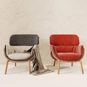 3d model elysia chair nichetto