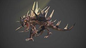 3d model infernal dog