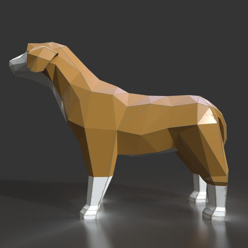 3d model style dog