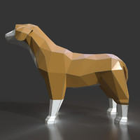 3d model style dog