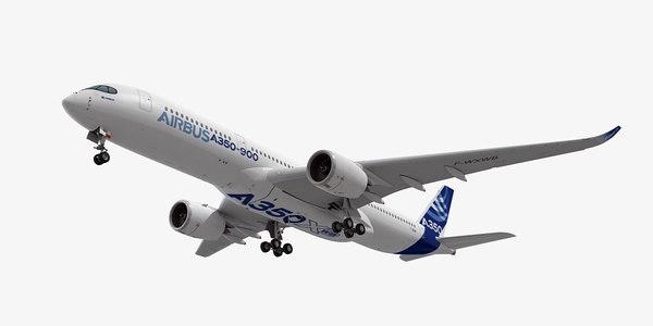 3d model airbus a350-900 xwb plane
