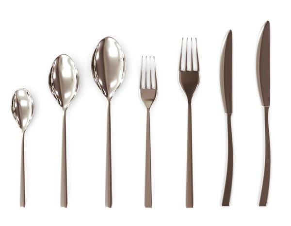 3d cutlery set