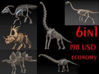 Herbivorous Dinosaurs Skeletons
