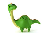 inflatable dinosaur 3d max