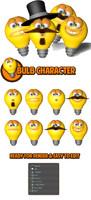 bulb character 3d c4d