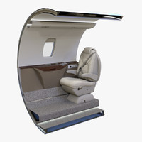 Cessna Citation XLS+ Seat and Single Wall section