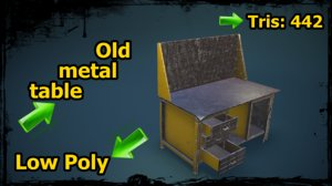obj old metal table