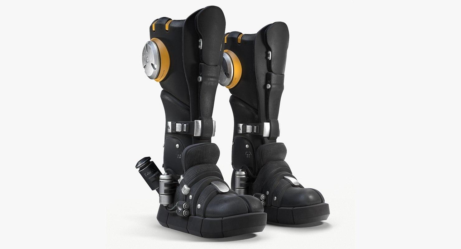 sci-fi boots 3d c4d