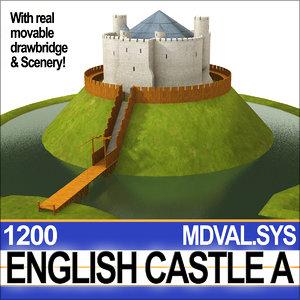 medieval english castle 3ds