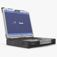 panasonic toughbook rigged 3d max