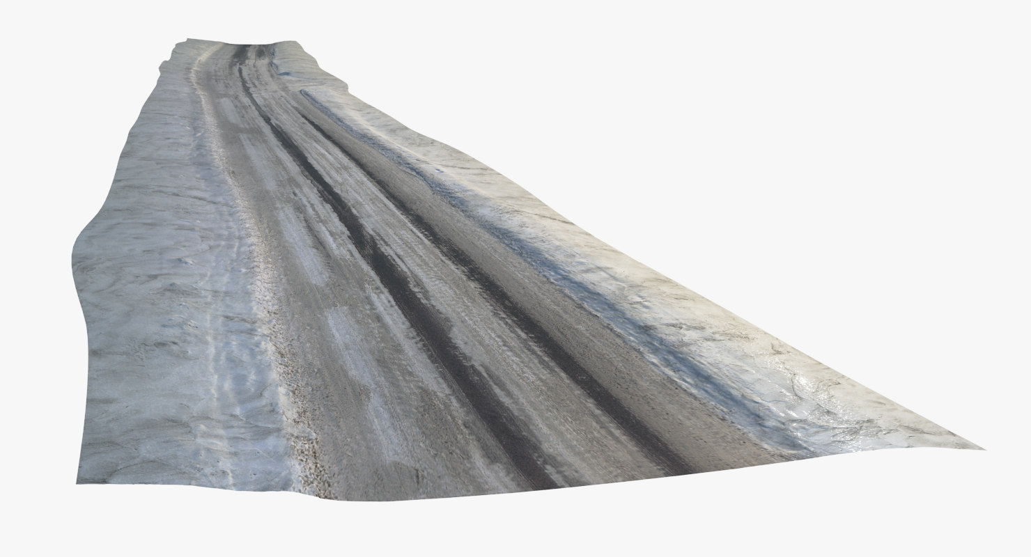 3d scan snowed road