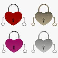 3d padlock keys