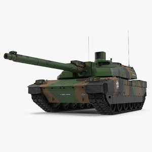 amx-56 leclerc french main 3d model