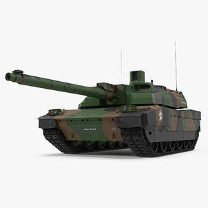amx-56 leclerc french main 3d model