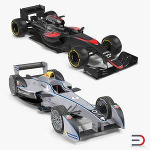 3d formula cars e